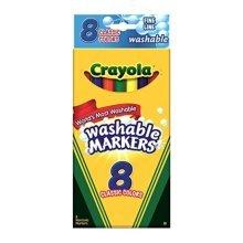 Bulk Buy: Crayola Fine Line Classic Colors Washable Markers 8/Pkg Classic Colors 58-7809 (3-Pack)