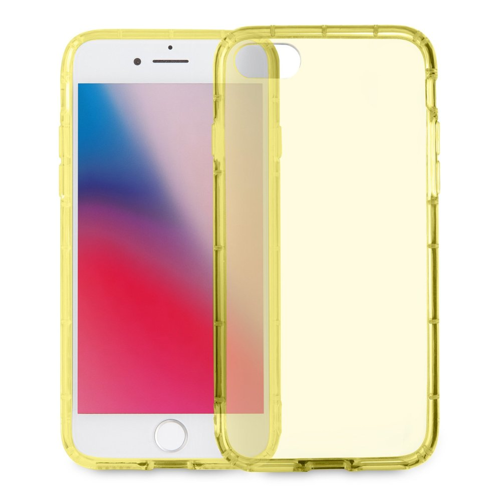 info for c407d a0180 MyGadget Soft Silicone TPU Clear Case for Apple iPhone 7/8 - Shockproof Air  Cushion Bumper - Protective Anti Scratch Back Cover in Transparent Yellow