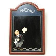 Menu Chalkboard with Waiter