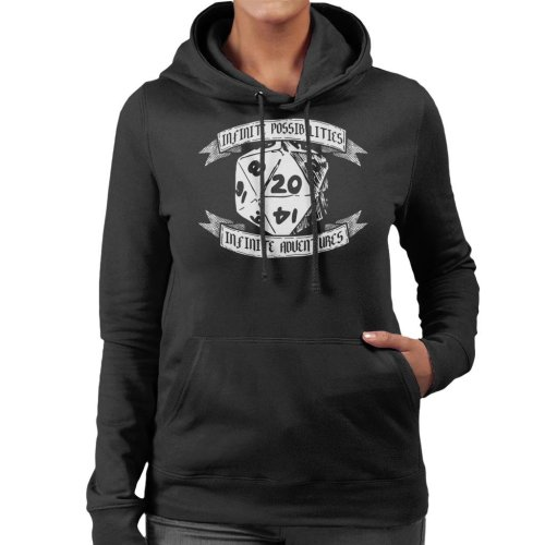 Infinite Possibilities Dungeons And Dragons Women's Hooded Sweatshirt