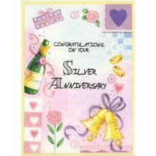 Congratulations on your Silver Anniversary Greeting Card by Cardio