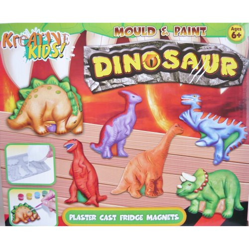 Dinosaur Mould and Paint Fridge Magnet Making Kit
