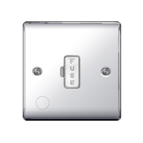 BG-Nexus-Metal 13A Un-Switched Fused Connection Unit,Flex Outlet,Polished Chrome Finish