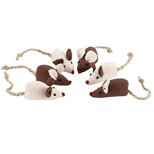 Catkins by Petface Mini Mice Cat Toy, 6-Piece