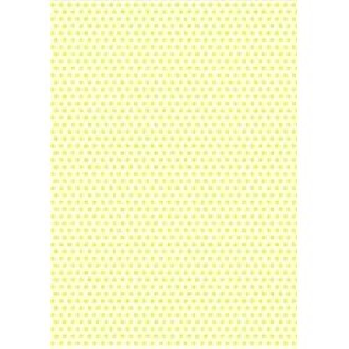 5 x A4 Yellow Polka Dot Card Stock, Dot Size:- Medium - PD49