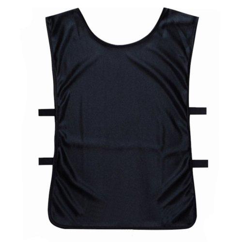 Set of 6 Basketball/Soccer Training/Scrimmage Vests Basketball Jersey, BLACK