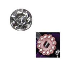 Pack Of 10 10mm Clear Crystal Rivets -  pack 10 10mm clear crystal rivets synthetic 10pk leathercraft accessory