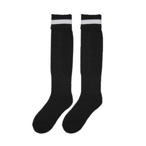 Solid Knee Football/Soccer Sock Mens Elite Sock Black Socks