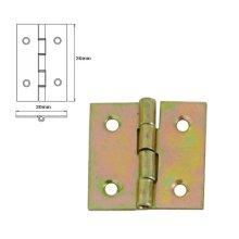 10 Pcs Folding Closet Cabinet Door Butt Hinge Brass Plated 30x30mm