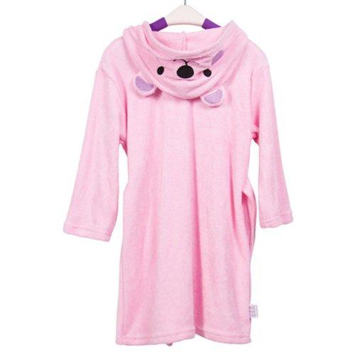 Lovely Cartoon Series Soft Baby Bathrobe/Hooded Bath Towel, Pink Bear, (58*32CM)