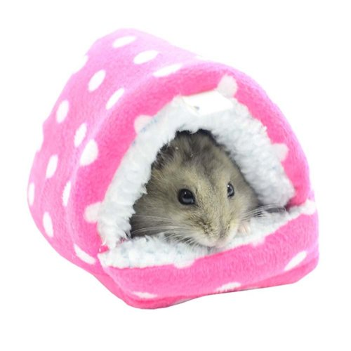 PINK Cute Cartoon Best Pet Supplies Home for Hamster Soft Warm Washable Pet Bed