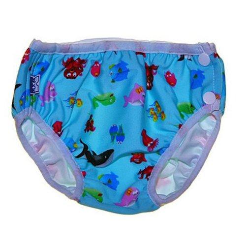 Blue Sea World Toddle Cute Baby Swim Diaper Swim Brief Swim Pant, L Size