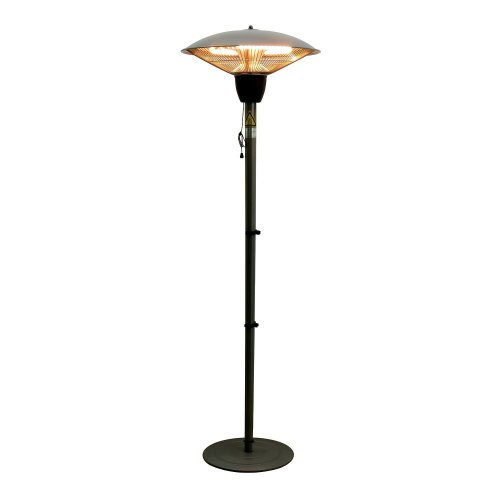 Outsunny Aluminium 1500W Free Standing Electric Patio Halogen Heater
