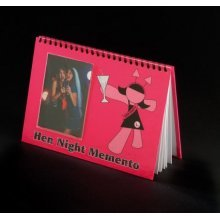 Pink Hen Night Memento Book - Party Novelty Bride 100 Stag -  memento hen book night party novelty bride 100 stag