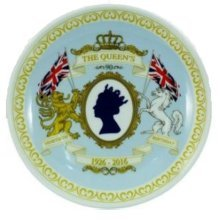 The Queens 90th Birthday 15cm Collectors Plate Royal Elizabeth II 2nd Ninetieth