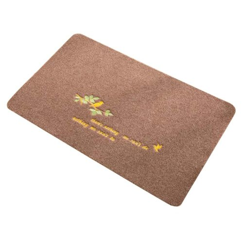 2 PCS Door Mats Living Room/Bathroom/Kitchen Foot Pad Non-slip Mat-Brown 3