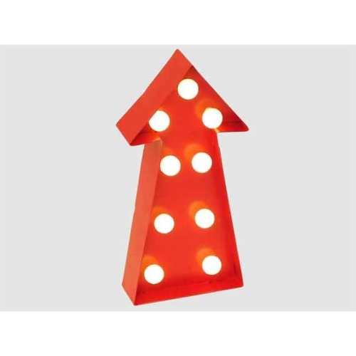 Wall Hanging Light Up Arrow Sign Red With White Light Display Decoration Signboard