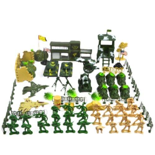 Soldier Scene Models Little Soldier Car Models Children's Toy Gifts - 90PCS