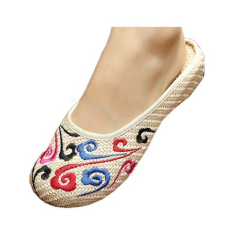 Womens Embroidered Summer Slippers Wedges Sandals Shoes for Cheongsam, #05