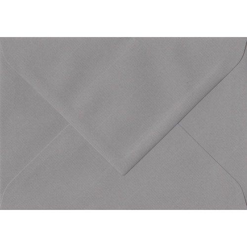 """Graphite Grey Gummed 5""""x7"""" Coloured Grey Envelopes. 100gsm Swiss Premium FSC Paper. 135mm x 191mm. Banker Style Envelope."""