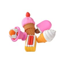 3 Sets Of Creative Cute Cartoon Erasers Variety Of Sweets Modeling