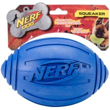 "Nerf Ridged Squeak Football 7""-Blue"
