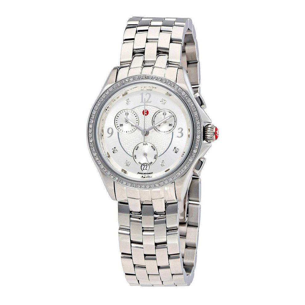 53557c63d58 Michele Belmore Chronograph Stainless Steel Ladies Watch MWW29B000001.