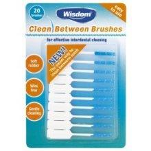 Blue Wisdom Clean Between Brushes - Interdental 20 Fine x Pack Rubber -  brushes wisdom clean between interdental 20 fine x pack blue rubber