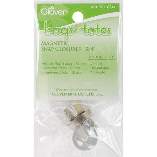 "Clover Magnetic Tote Bag Closure 3/4""-Antique Gold"