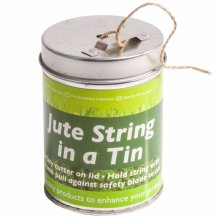 Roots & Shoots - 1 x Green Jute String In A Tin - 50g Approx