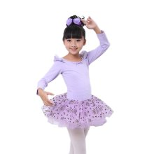 Comfortable Leotard Dress Ballet Long Sleeve Tutu Skirt Ballerina Dance Costumes, C