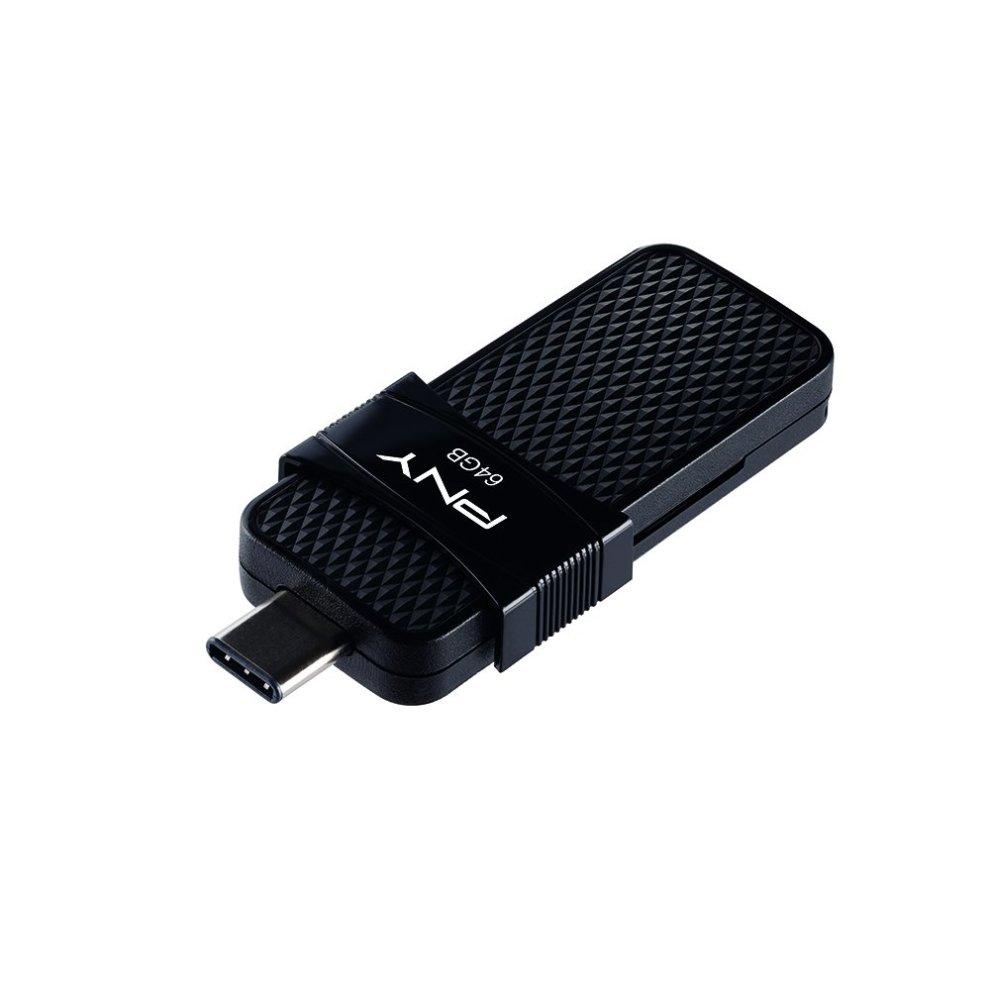 PNY P-FD64GOTGSLTC-GE 64 GB Duo-Link OTG Type-C 3 1 USB Flash Drive