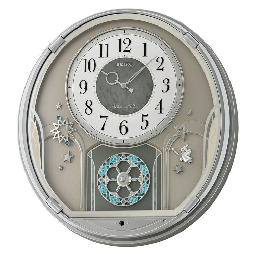 Seiko QXM375S Melodies in Motion Wall Clock - Silver