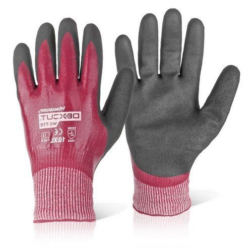 Wondergrip WG718L Dexcut Nitrile Coated Gloves Size 9 Large