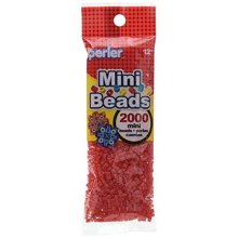 Perler 2000 Mini Beads: Red_80-14061