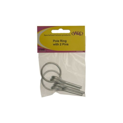 Awning/Tent Pole Rings With Pins - Pack of 2