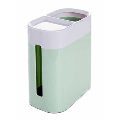 Convenient Plastic Toilet Paper Tissue Holder Box Green