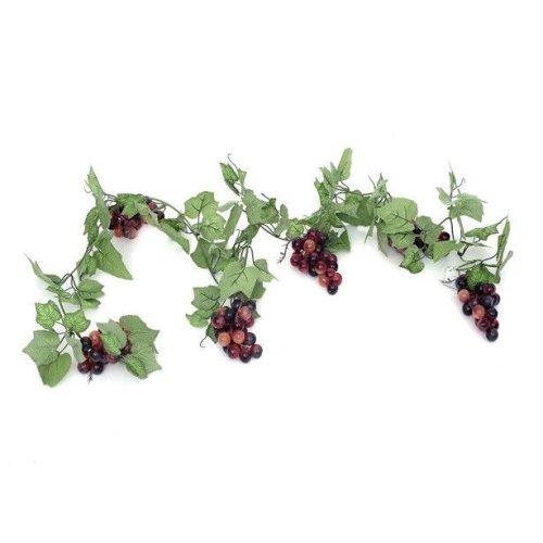 Artificial Red Grape Vine Garland - 180cm - Decorative Plastic Fake Fruit