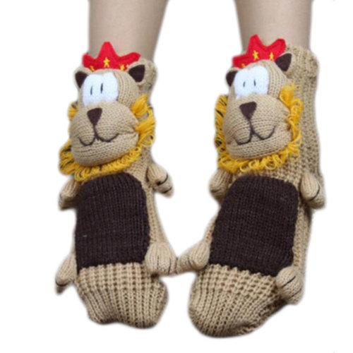 A Pair Non-slip Cute Sleeping Socks Slipper Socks Floor Socks-A03