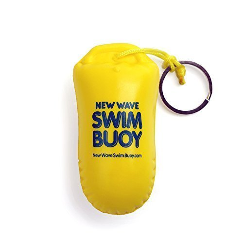 New Wave Floating Key Chain Buoyant Camera Float for Open Water Swimmers and Triathletes by New Wave Swim Buoy