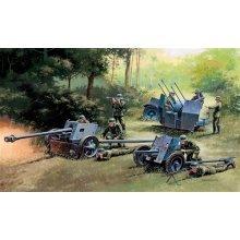 GERMAN GUNS SET: PAK35-PAK40-FLAK38 - MILITARY VEHICLES 1:72 - Italeri 7026