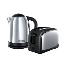 Russell Hobbs Lincoln Kettle and 2 Slice Toaster Polished Stainless Steel 21830