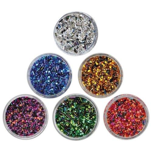 Pbx2470740 - Playbox - Glass Beads (sticks) Pink Mix - 190g