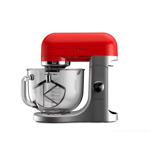 Kenwood Stand Mixer KMX50GRD 500W 5L kMix Kitchen Machine Glass Bowl Red Modern