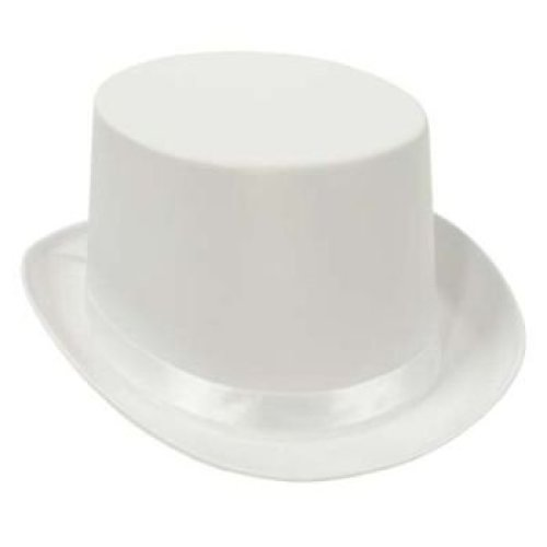 White Satin Deluxe Top Hat