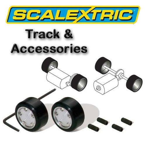Scalextric Accessories - Le Mans Pack of 2 Hubs &Tyres