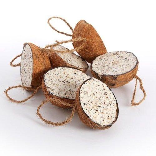20pc Filled Suet Coconuts   Hanging Suet Bird Feeders