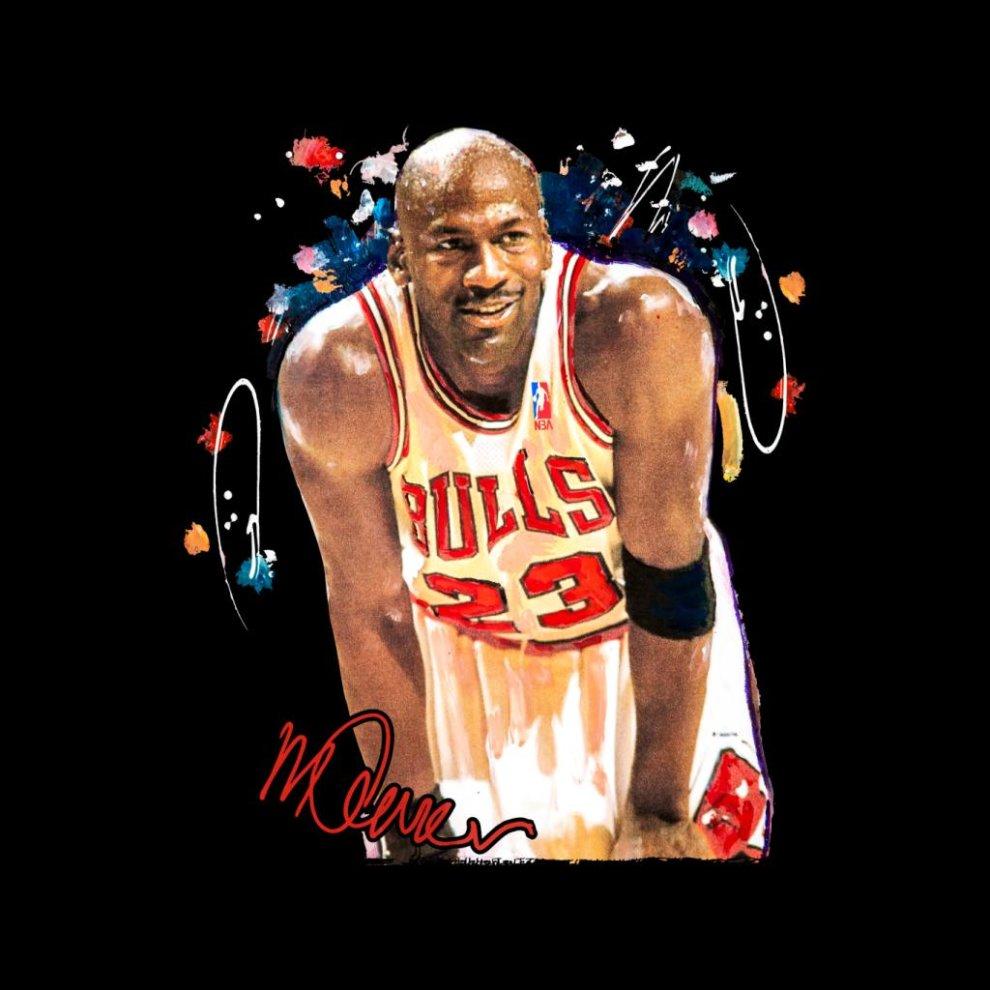 642f3c4e9c41 ... Sidney Maurer Original Portrait Of Michael Jordan Chicago Bulls Arm  Band Men s T-Shirt ...
