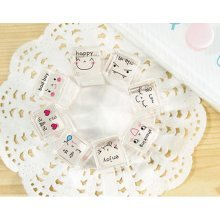 Set of 8 Mini Crystal Stamps All Expressions Stamps Rubber Stamps