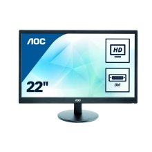 AOC E2270SWDN 22In Widescreen LED Monitor -DVI VGA